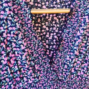 Dresses - SEXY DEEP V NECK PIN UP FLORAL DRESS